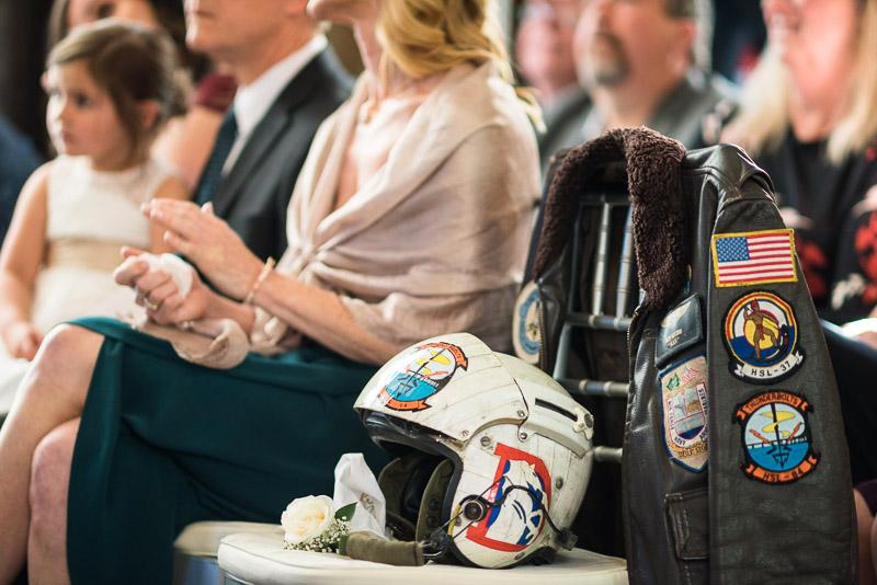 Denver Wedding Photography Wellshire Inn father flight helmet