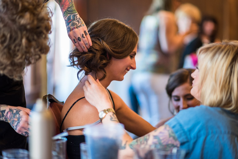 denver athletic club wedding photography bride hair