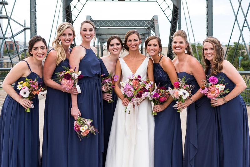 denver athletic club wedding photography bridesmaids
