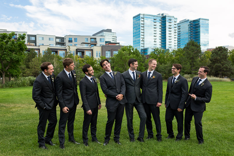 denver athletic club wedding photography groomsmen