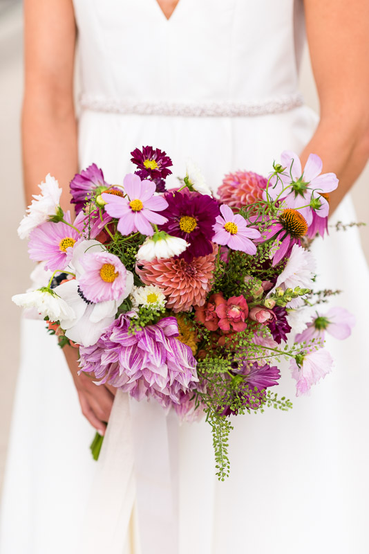 denver athletic club wedding photography flower bouquet
