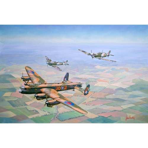 Bring Home the Straggler War Plane Painting John Bradley