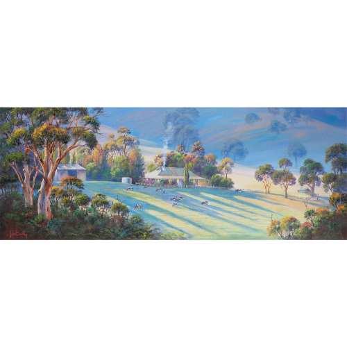Evening Shadows Mt George Art by John Bradley