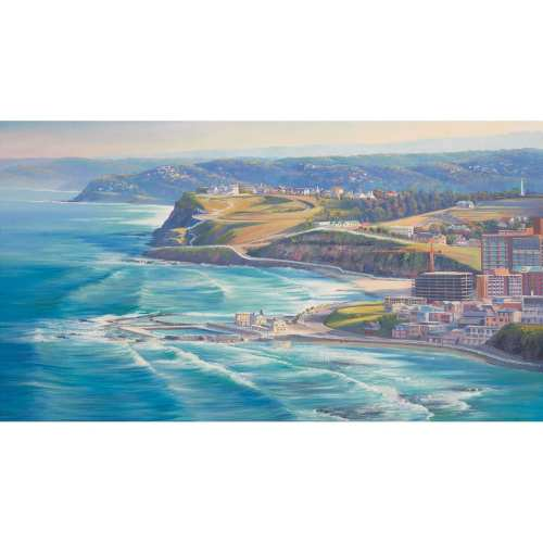 Newcastle from the Air Painting by John Bradley