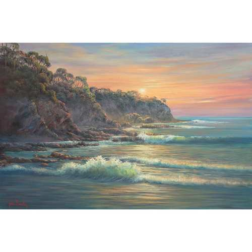 South Coast Sunrise Painting by John Bradley