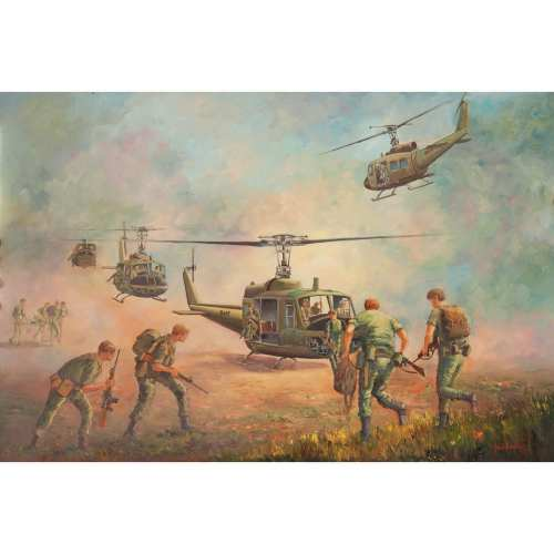 We Gotta Get Out of This Place War Painting John Bradley