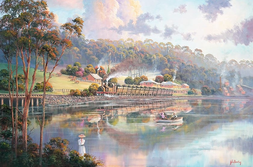 Early Days Glenrock Lagoon painting by John Bradley