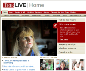 Beth again featured in article on VA study on Burn Pits