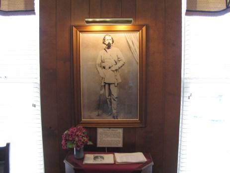 Lloyd Tighman portrait in the Lloyd Tilghman House & Civil War Museum.