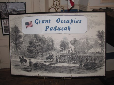 Grant Occupation of Paducah material in the Lloyd Tilghman House & Civil War Museum.