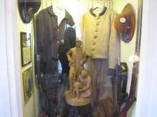 Uniforms on display in the Lloyd Tilghman House & Civil War Museum.