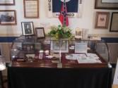 Memorabilia on display in the Lloyd Tilghman House & Civil War Museum.
