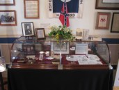 Memorabilia on display in the Lloyd Tilghman House & Civil War Museum.