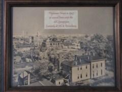 aerial Map of house in the Lloyd Tilghman House & Civil War Museum.