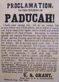 Paducah Proclamation of Grant.
