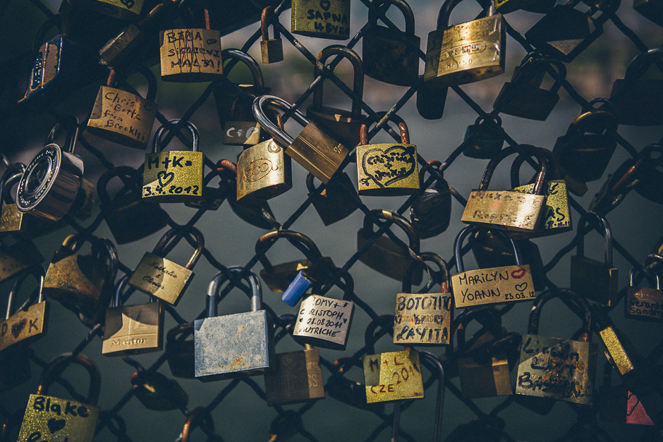 'Love Locks' on the Pont Des Arts Bridge in Paris