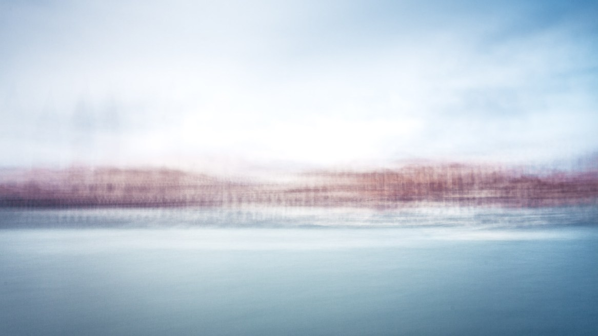 A blurred photograph of Venice