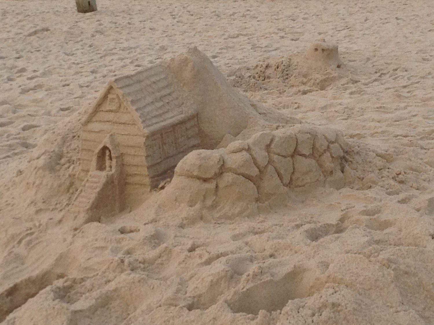 Sand home sculpture at Rehoboth Beach