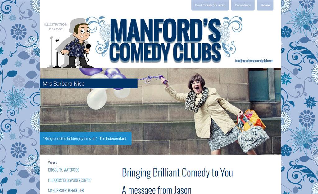 Comedy club website