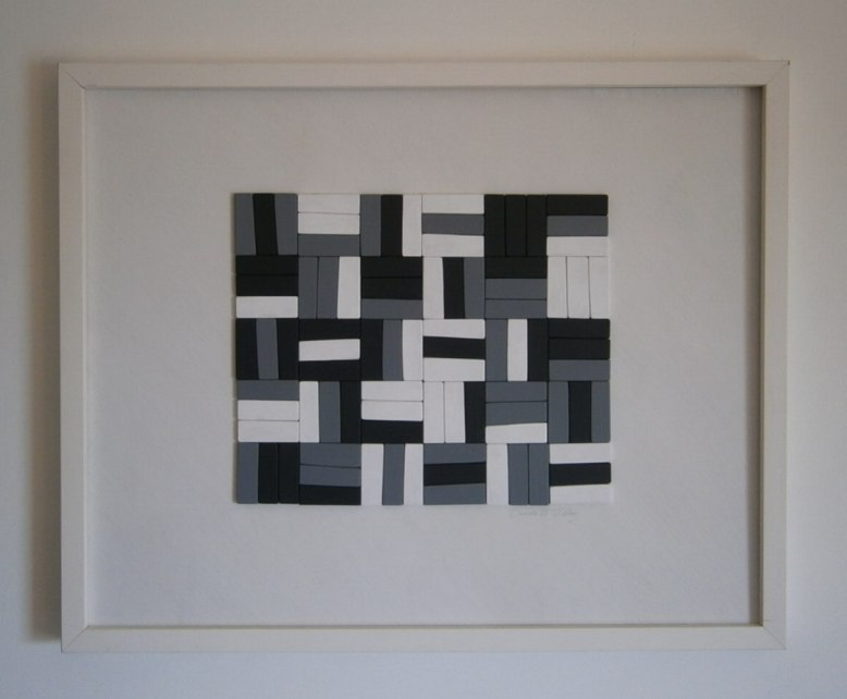 Geometric Abstract Relief Painting