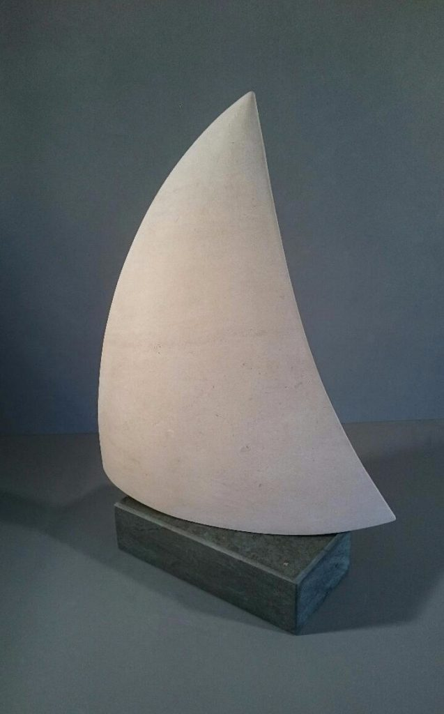Sail sculpture in Stone