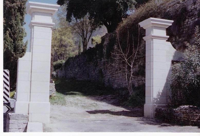 Stone Pillars La Commanderie St Siffret