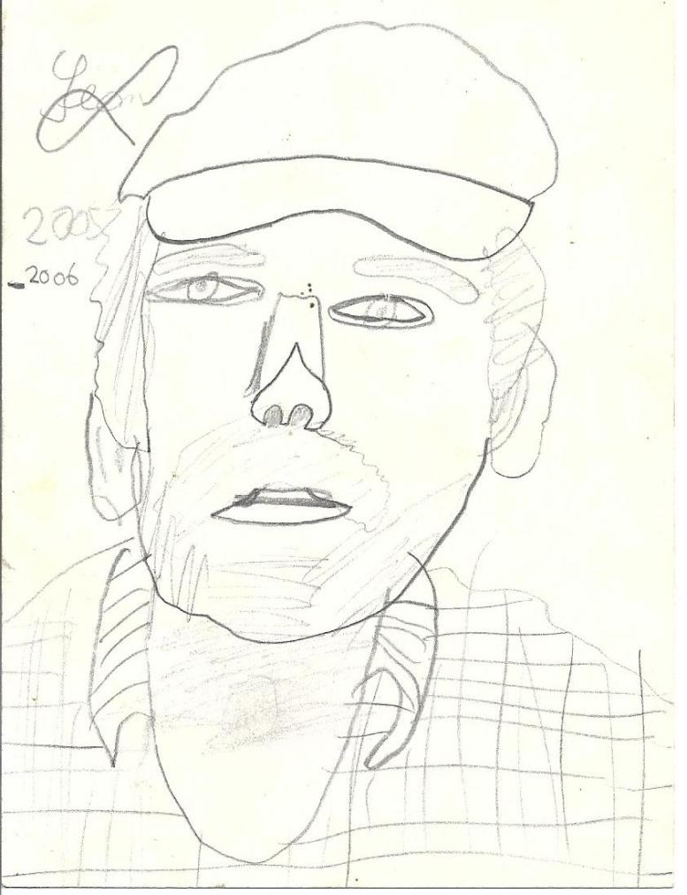 Drawing of the artist by Son