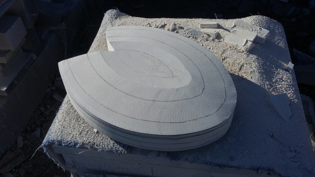 Making of Stone Abstract Sculpture
