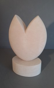 Abstract Stone Sculpture in Portland Stone