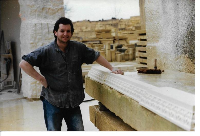 Carving a 18th Century Cornice in the Quarry