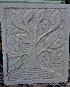 Tree of Life carved in Portland Stone by first time Student