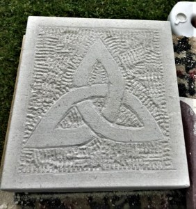 Celtic Cross in Portland Stone carved by beginner.