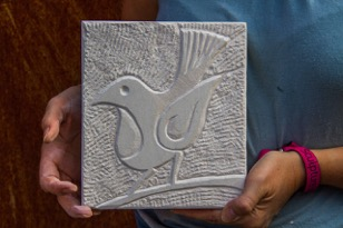 Students Carving in Portland Stone