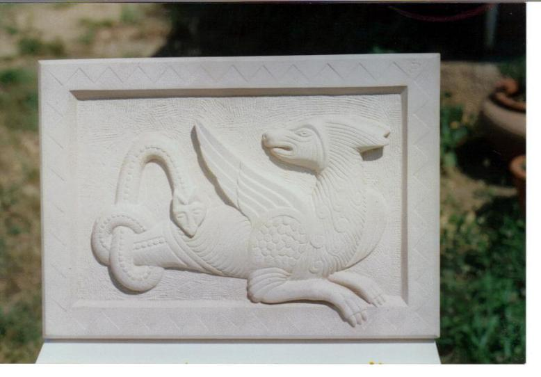 Stone Relief Beast Carving