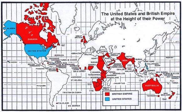 British-Empire-and-usa-map