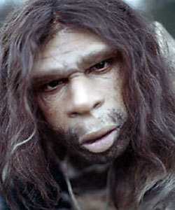 neanderthal-hairy-head-cocked-protruding-mouth