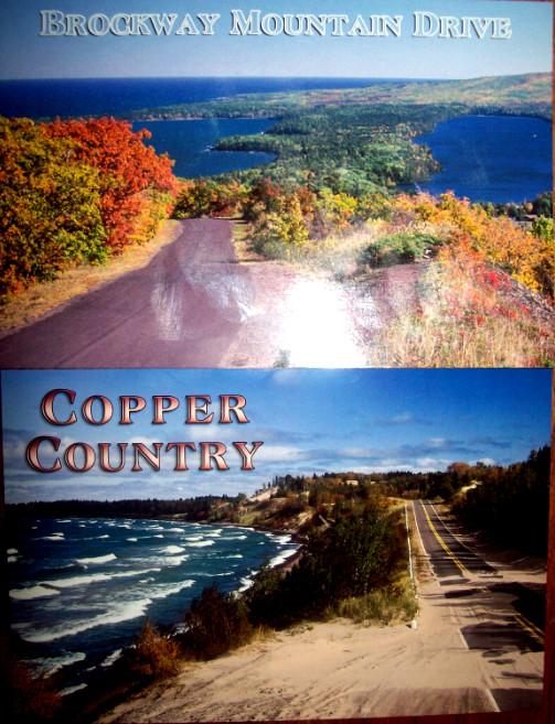 two-postcards-up-michigan-brockway-mtn-dr-lake-superior