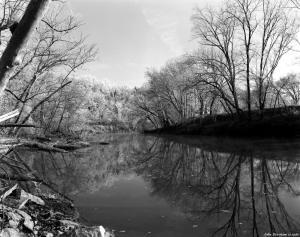 12-14-1980 Harpeth River near Nashville Tennessee- Toyo D45M 4x5 view camera-135mm Schneider Xenar lens-K2 filter-Kodak Plus X Pan Pro 4x5 film-Edwal FG7 developer.