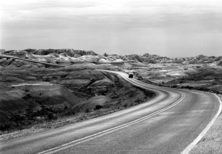 8-21-1988 Badlands of South Dakota-Linhof Tech V-210 Symmar S-K2 filter-T-max 100-HC11o developer.