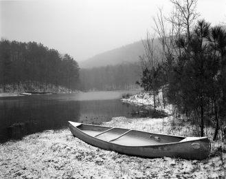 1-1994 Double Oak Mountain Lake-Near Birmingham Alabama-Linhof Technika V 4x5 camera-90mm Schneider Super Angulon-Kodak Tri X Pan Pro 4x5 film-PMK Pyro developer.