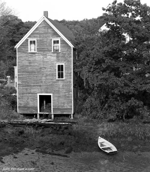 9-11-1986 Boat House Maine-Linhof Technika V 4x5 camera-300mm Schneider Xenar-Kodak Tri X Pan Pro 4x5 film-Kodak HC110C developer.