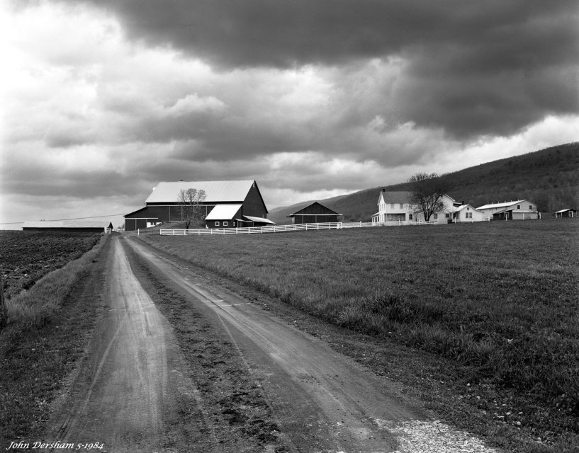 5-4-1984 Central Pennsylvania-Linhof Technika V 4x5 camera-120mm Schneider Symmar S lens-Ilford FP4 4x5 film-Kodak HC110B developer.