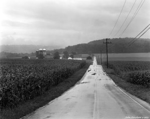9-4-1984 Wet farm scene-Hershey Pennsylvania-Cambo 4x5 view camera-210mm Schneider Symmar S lens-Kodak Tri X Pan Pro 4x5 film-Kodak HC110B developer.