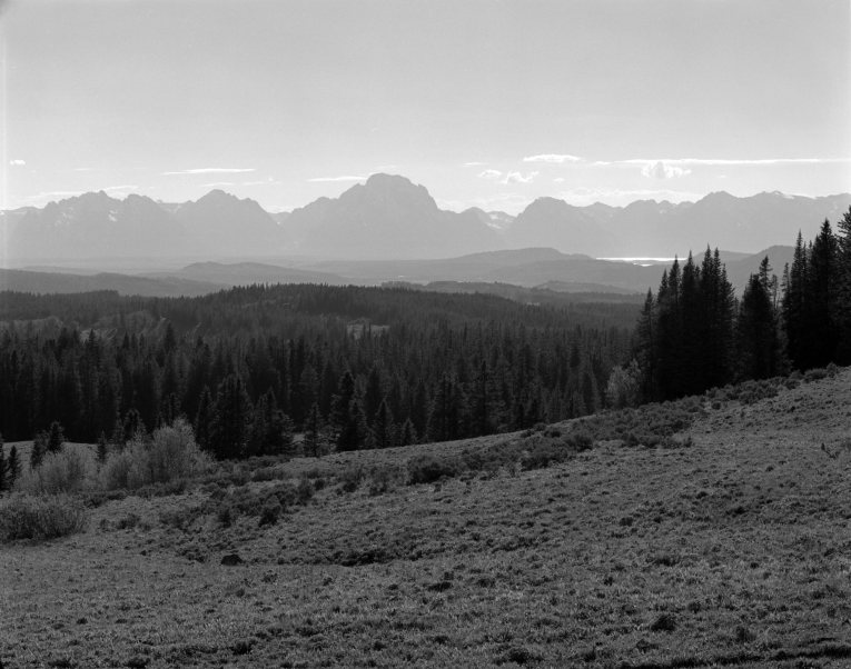 6-24-1990 Grand Tetons-Linhof Technika 4x5 camera-300mm Schneider Xenar lens-Tmax 100 4x5 film-Yellow G filter-Tmax RS developer.