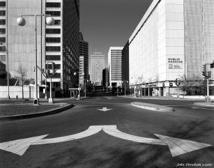 3-27-1982 Deadrick Street-Nashville Tennessee-Linhof Technika IV 4x5 camera-90mm Schneider Super Angulon lens-G filter-Kodak Plus X Pan Pro 4x5 film-Kodak HC110B developer.