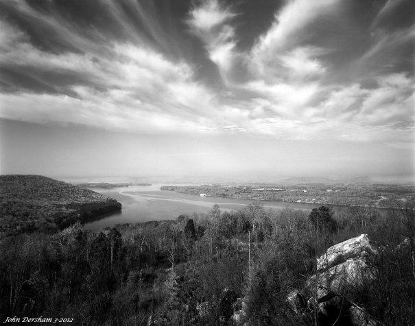 3-18-2012 Tennessee River from Section Alabama-Schneider Super Angulon lens-K2 filter-Ilford FP4+ 4x5 film-PMK Pyro developer.
