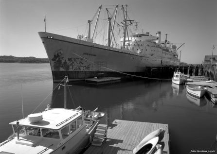 9-9-1986 Ship scene-Castine Maine-Linhof Technika V 4x5 camera-120mm Schneider Symmar S lens-K2 filter-Kodak Tri X Pan Pro 4x5 film-Kodak HC110B developer.