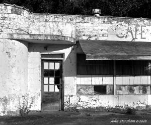 "6-10-2016 Stillwell Corner Service Station-Polk County Tennessee-Toyo 8x10M camera-Kodak 12"" Commerical Ektar lens-K2 filter- Adox CHS 50 8x10 film-PMK Pyro developer."