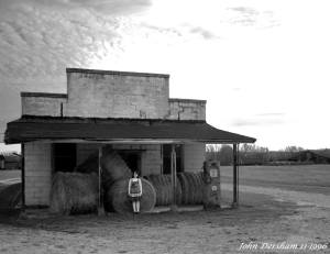 11-17-1996 Rural Alabama-Old store with Melanie Martiin-generations of her family have owned it and used to run the store-Toyo 8x10M camera-250mm Fujinon W lens-Kodak Tmax 100 8x10 film-PMK Pyro developer. This was a photo outing with fellow large format photographers, David Haynes and David Elder