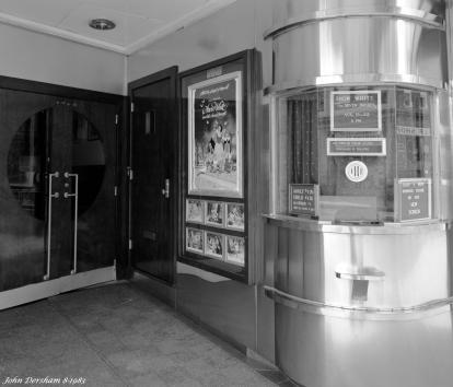 8-17-1983 Old Strand Theater-Hamburg Pennsylvania-Cambo SC 4x5 view camera-90mm Schneider Super Angulon lens-Ilford FP4 4x5 film-Kodak HC110B developer.